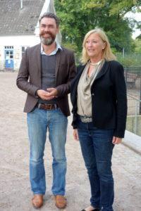 Gespräch in der Bugenhagenschule Blankenese: Schulleiter Hajo Janssen, Bürgerschaftsabgeordnete Anne Krischok (SPD)