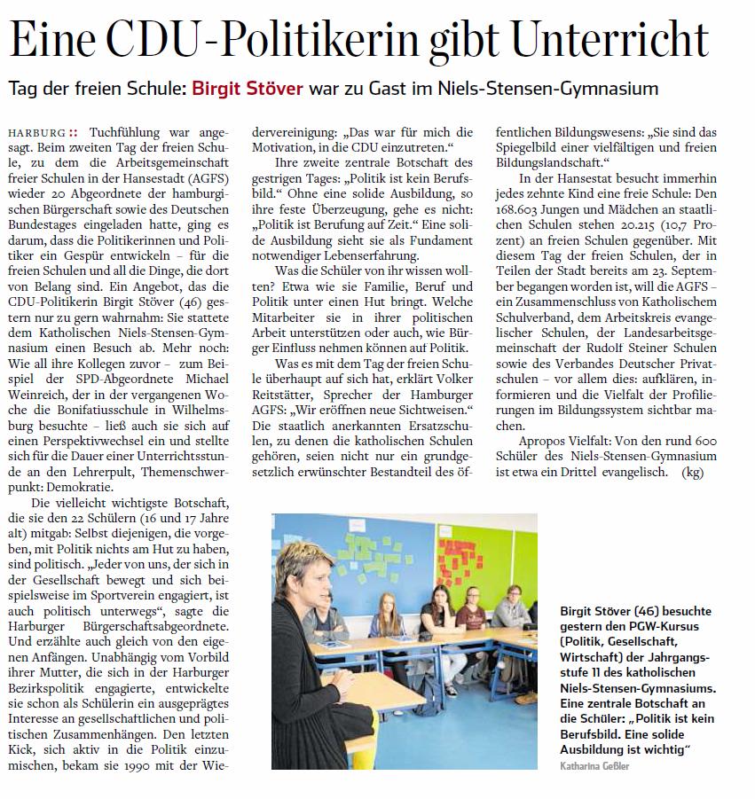 Hamburger Abendblatt Harburg vom 1.2.3.10.2016